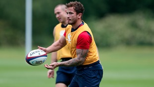 Danny Cipriani during an England training session at Pennyhill Park, Surrey.