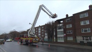 Fire crews at the scene of the fire in Union Street.