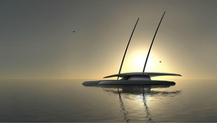 The ship will be unmanned and powered by renewable energy.