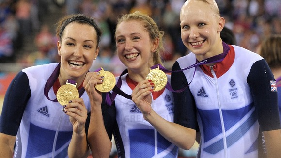 Team GB's women's pursuit stars.