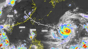'Violent' typhoon heading for Taiwan and China