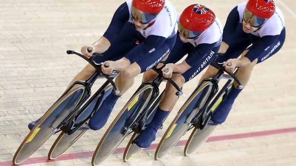 Olympic pursuit cyclists