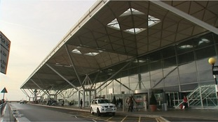 The man was arrested at Stansted