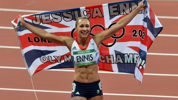 Ennis triumphed in the 800m event to secure gold.
