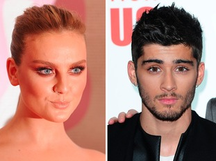 Two separate shots of Perrie Edwards and Zayn Malik
