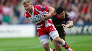 Ross Moriarty playing for Gloucester