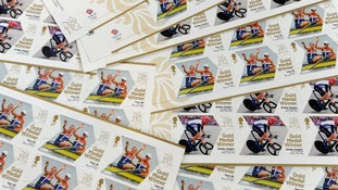 Commemorative Team GB stamps.
