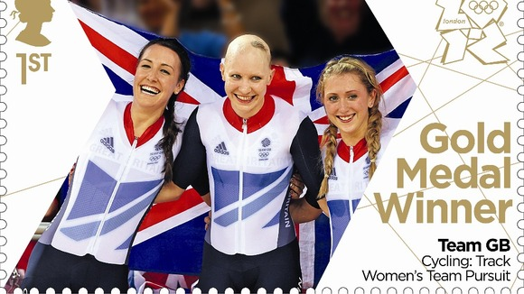 Dani King, Joanna Rowsell and Laura Trott won gold in the women&#x27;s cycling team pursuit final. 