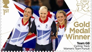 Dani King, Joanna Rowsell and Laura Trott won gold in the women's cycling team pursuit final.