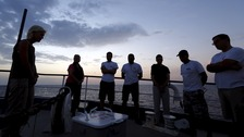 Crew on the Migrant Offshore Aid Station are searching for the migrants