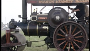 Steam engine at rally