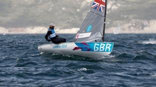 Ben Ainslie sailing in Finn class
