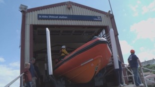 St Abbs were called to rescue a fisherman