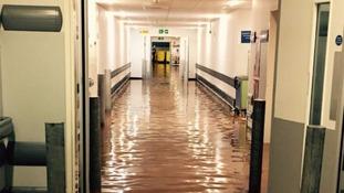 Fire crews at Queen Elizabeth Hospital over flooding