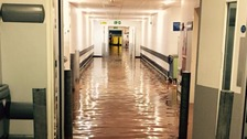 Flooding in the Queen Elizabeth Hotel