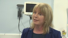 Scottish Health Secretary at the Dumfries Royal Infirmary today