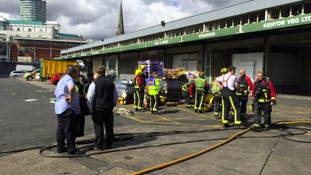 Firefighters wore breathing apparatus to tackle the blaze