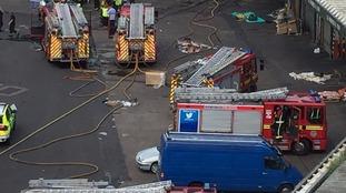 Fire services attend the scene