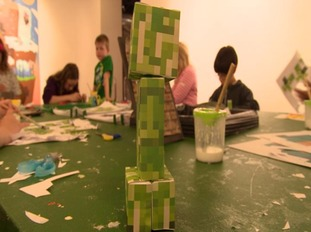 Craft making at the exhibition