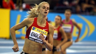 Great Britain's Hannah England competes in the Women's 1500 meters