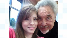 Carlisle's Jodie Vasquez meeting Sir Tom Jones before his concert at Britts Park