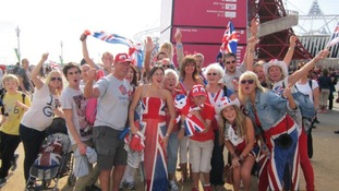 Mears family at the Olympic park