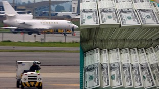 Dirty money: Woman caught at airport with $80k hidden in stomach and 'private parts'