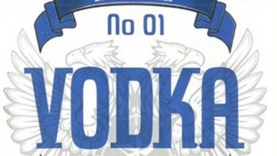 An image of the vodka bottle label.