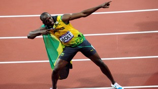 Usain Bolt set a new Olympic record in the 100m event in London.