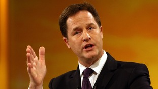 "Mr Clegg will say ministers are ""unreservedly committed"" to supporting carbon emissions reduction."