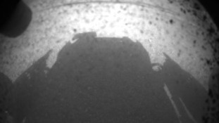 The Curiosity Rover casts its shadow on Mars