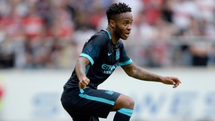 Manchester City's Raheem Sterling in action at the pre-season friendly against VfB Stuttgart.