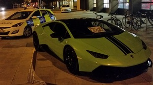 The Lamborghini Huracan seized by police in Cambridge