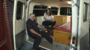 Taking a closer look inside a heritage ambulance.