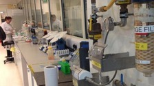 A lab in Warrington where the water is being tested.