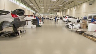 M-Sport's state-of-the-art workshop at Dovenby Hall near Cockermouth