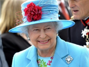 Her Majesty Queen Elizabeth II during a royal visit to Whitehaven in 2008