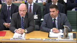Insp Ken Mackail and DS Stuart Hinton at the Home Affairs Select Committee.