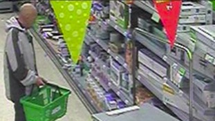 The man was seen stealing items from Asda in Sinfin