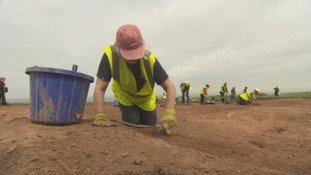 Archeological dig in Maryport