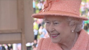 The Queen opening the second Tyne Tunnel crossing.