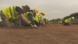 End of 5 year archeological dig in Maryport.