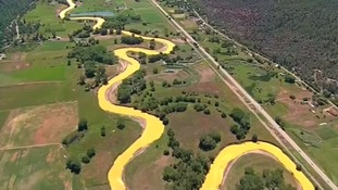 US rivers turns yellow because of potentially toxic wastewater