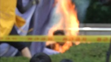 South Korea self-immolation