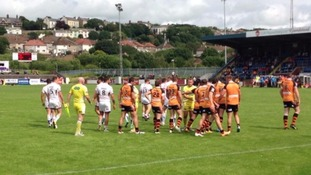 A match between local rivals Workington and Whitehaven