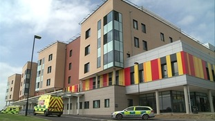The University Hospital of North Staffordshire where the man was being treated