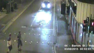 Police want to speak to the two men captured in this CCTV in connection with a robbery on August 3