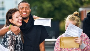 Around 300,000 students in England, Wales and Northern Ireland will collect their results on Thursday.