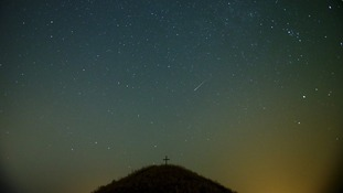 A meteor seen over Leeberg hill near Grossmug, Austria