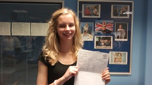 Lauren Eddy at Cornwall College is happy with her A Level results